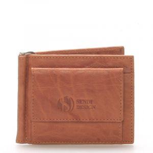 Pánská kožená dolarovka světle hnědá – Sendi Design 57 hnědá 73526