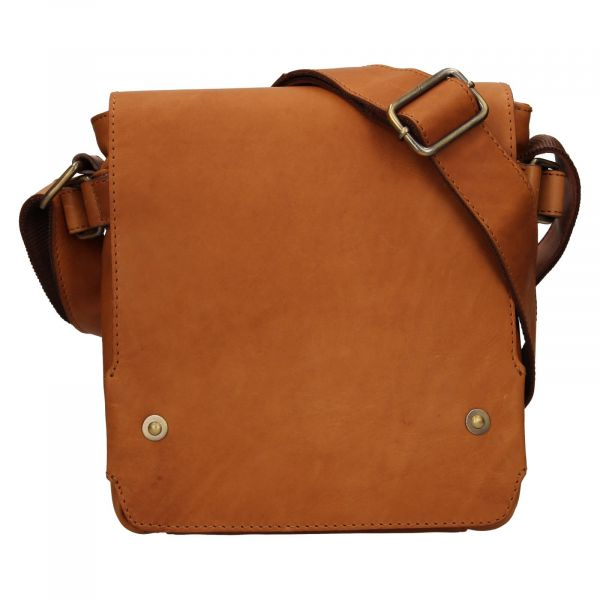 Pánská kožená taška přes rameno Lagen Maros – koňak 111523
