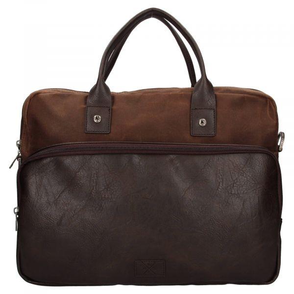 Pánská pracovní taška Lerros Harry – hnědá 111295