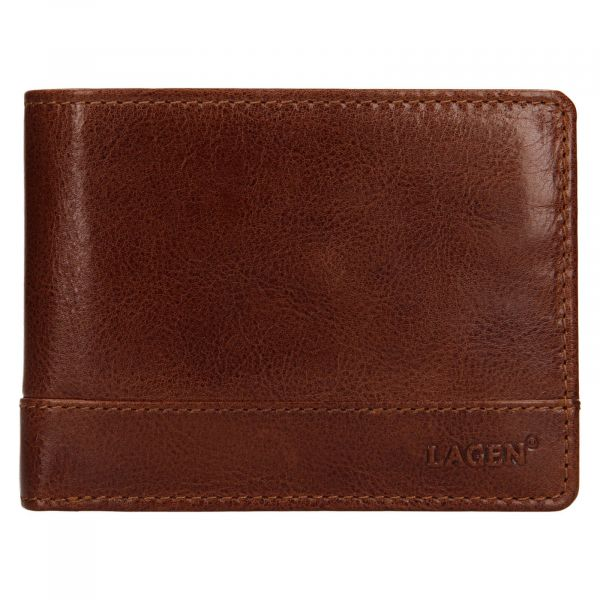 Pánská kožená peněženka Lagen Lorenc – koňak 111547