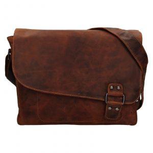 Pánská kožená taška přes rameno Greenwood Konte – hnědá 111546