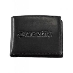 Meatfly Pánská kožená peněženka Brazzer Black mmf0792