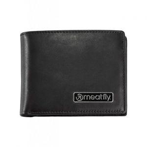 Meatfly Pánská kožená peněženka Pitfall Black mmf0793