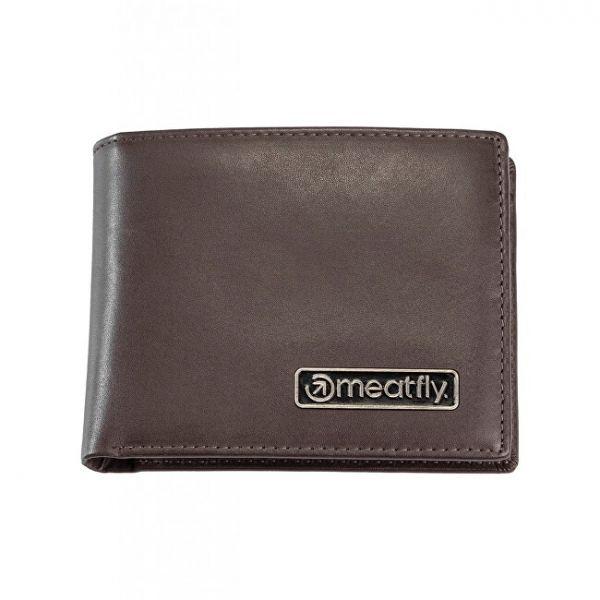 Meatfly Pánská kožená peněženka Pitfall Brown mmf0794