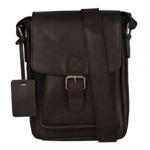 Pánská kožená taška přes rameno Burkely Luke – černá 111550