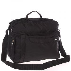 Středně velká taška na doklady a notebook černá – Bellugio Meskar černá 108560