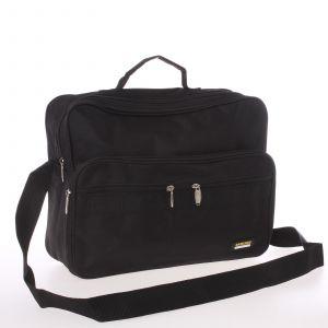 Pánská látková taška přes rameno černá – Sanchez Saturn černá 112102