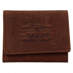 Pánská kožená peněženka Levis Etham – hnědá 111590