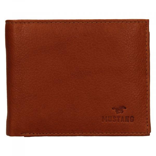 Pánská kožená peněženka Mustang David – koňak 111630