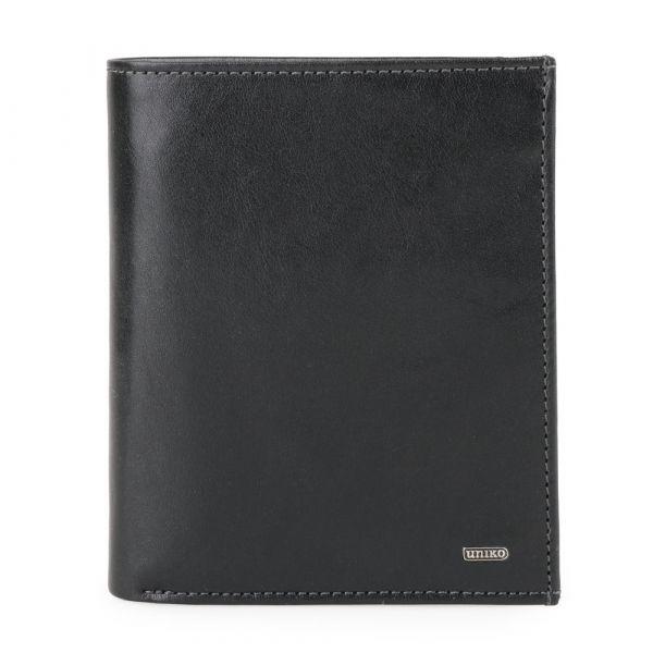 Uniko Kožená pánská peněženka Uniko Kreuzberg 100598 – černá p5808