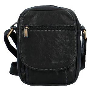 Pánská kožená taška přes rameno černá – SendiDesign Colyn černá 303227