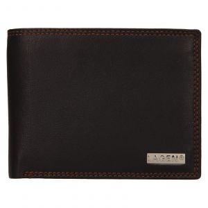 Pánská kožená peněženka Lagen Norbert – tmavě hnědá 111657