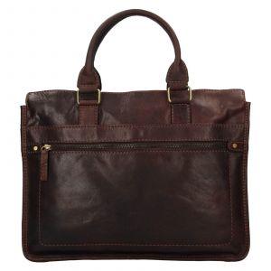 Pánská kožená taška přes rameno Lagen Benedikt – tmavě hnědá 111658
