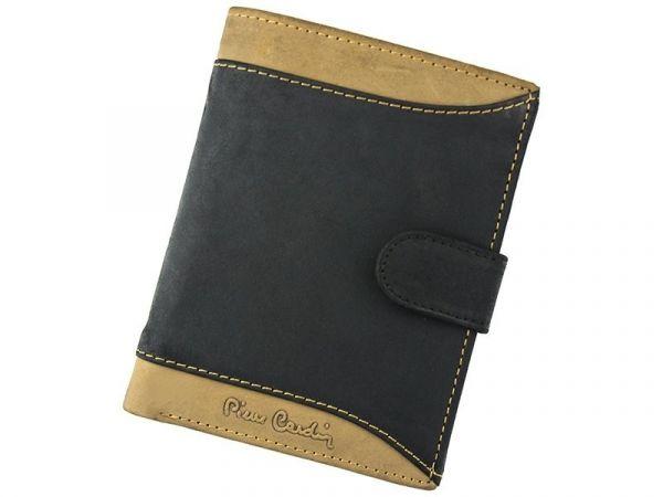 Pánská kožená peněženka Pierre Cardin Andre – černo-hnědá 12740