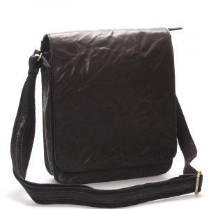 Větší černá crossbody pánská kožená brašna – Sendi Design Daril černá 73870