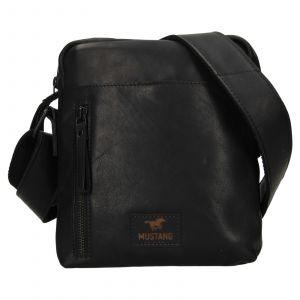 Pánská kožená taška přes rameno Mustang Dumas – černá 111685