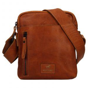 Pánská kožená taška přes rameno Mustang Dumas – koňak 111683