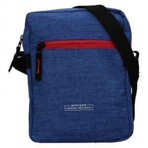 Pánská taška přes rameno Mustang Fabre – modrá 111682