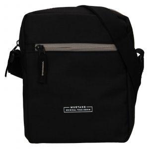 Pánská taška přes rameno Mustang Fabre – černá 111678