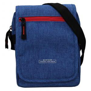 Pánská taška přes rameno Mustang Bobby – modrá 111688