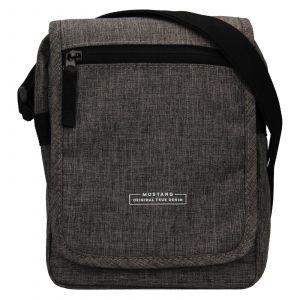Pánská taška přes rameno Mustang Bobby – šedá 111687