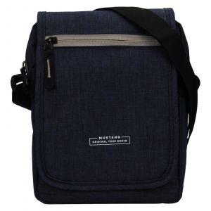 Pánská taška přes rameno Mustang Bobby – tmavě modrá 111686