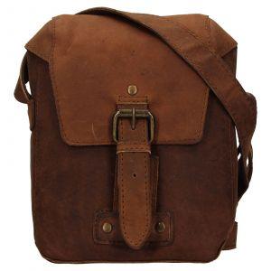 Pánská kožená taška přes rameno Ashwood Miro – hnědá 111712