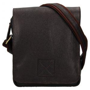 Pánská kožená taška přes rameno Ashwood Jarry – tmavě hnědá 111711