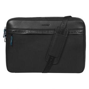 Pánská kožená taška přes rameno Burkely Bolds – černá 111709