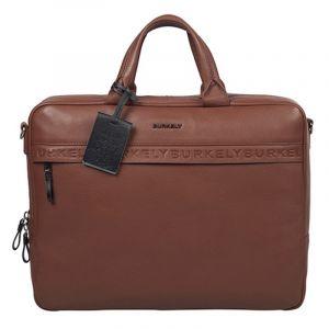 Pánská kožená taška na notebook Burkely Move – koňak 111706
