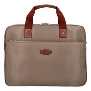 Luxusní taška na notebook světlá taupe – Hexagona 171176 taupe 305299