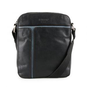 Lagen Pánská kožená taška přes rameno 25919 – černo-modrá p57196