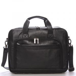 Luxusní pánská kožená taška přes rameno černá – Bellugio Lance černá 58731