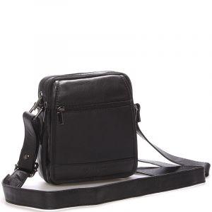 Pánská kožená taška černá – WILD Norice černá 58812