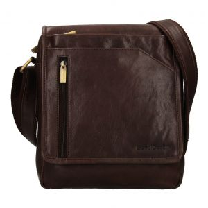 Pánská kožená taška přes rameno SendiDesign Ladis – hnědá 111774