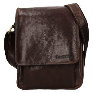 Pánská kožená taška přes rameno SendiDesign Pauls – hnědá 111772
