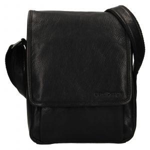 Pánská kožená taška přes rameno SendiDesign Pauls – černá 111771
