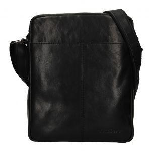 Pánská kožená taška přes rameno SendiDesign Felix – černá 111770