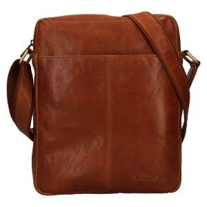 Pánská kožená taška přes rameno SendiDesign Felix – koňak 111769