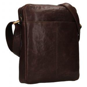 Pánská kožená taška přes rameno SendiDesign Felix – hnědá 111768