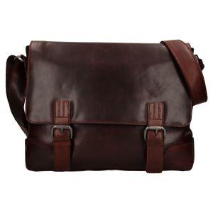 Pánská kožená taška přes rameno Ashwood Jack – koňak 111786