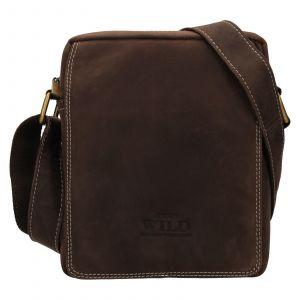 Pánská taška přes rameno Always Wild James – tmavě hnědá 111746