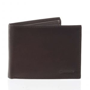 Pánská volná hnědá kožená peněženka – Diviley Cycbet hnědá 158504