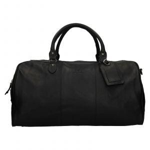 Pánská kožená cestovní taška Mustang Vojta – černá 111808