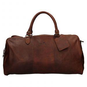 Pánská kožená cestovní taška Mustang Vojta – tmavě hnědá 111807