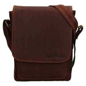 Pánská kožená taška přes rameno Greenwood Thomas – koňak 111804