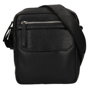 Pánská kožená taška přes rameno Lagen Jack – černá 111802