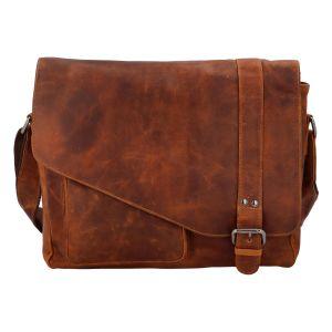 Pánská kožená taška přes rameno světle hnědá – Greenwood Castler hnědá 307899
