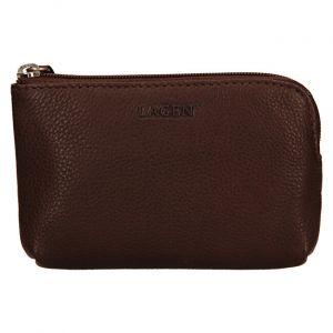 Lagen Kožená mini peněženka-klíčenka BLC/4742 Brown mla0860