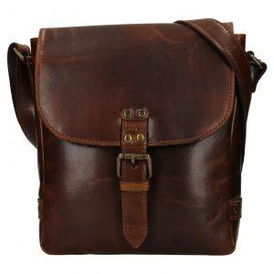 Pánská kožená taška přes rameno Ashwood Fion – hnědá 111710